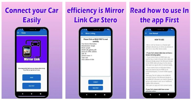 Mirror Link Car Stereo