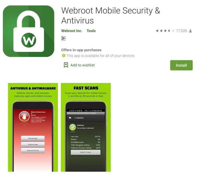 Webroot Mobile App