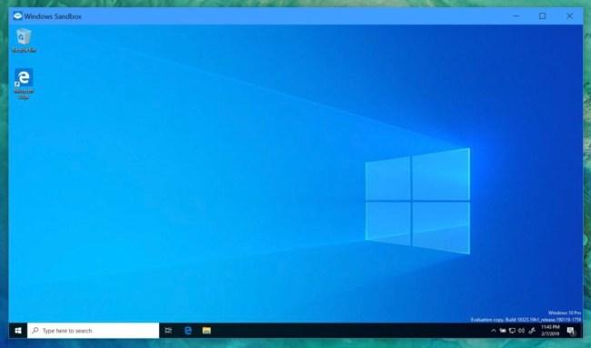 Windows 10 Sandbox