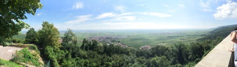 View from Hambacher Schloß