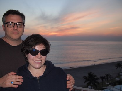 Cliff and Sarah PVR BVG balcony sunset