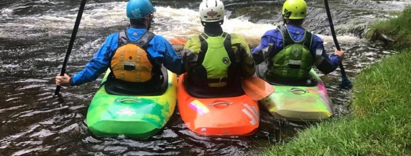 Regents Canoe Club at the Tryweryn