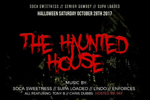 Soca Sweetness, Senior Gumboy, Supa Loaded presents The Halloween Saturday Haunted House inside a converted 55 Nugget!