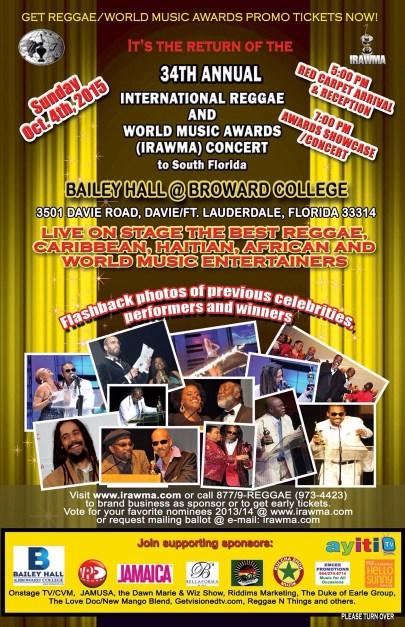 The 34th International Reggae And World Music Awards (IRAWMA