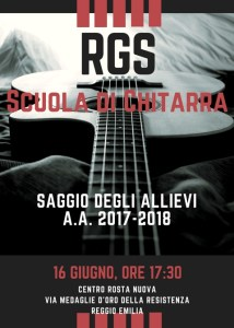 Saggio scuola di chitarra Reggio Emilia 2018