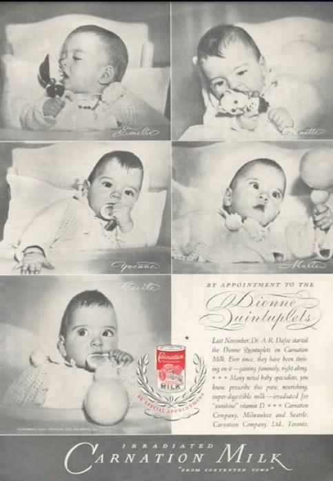 Resultado de imagen de la tragica historia de las quintillizas dionne