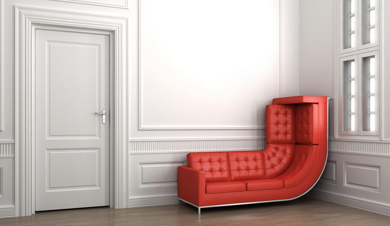 Image en 3D d'un canapé impossible