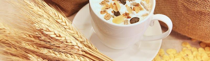 Photo d'aliments riches en fibres alimentaires : céréales