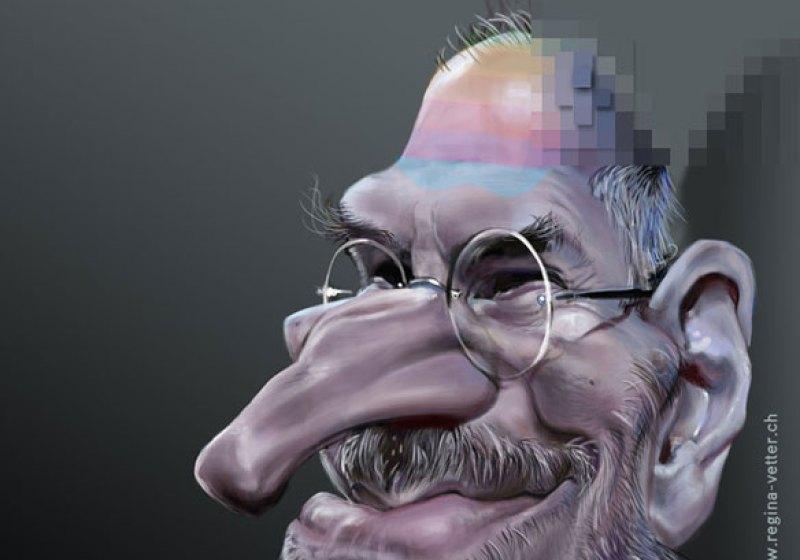 Karikatur von Steve Jobs