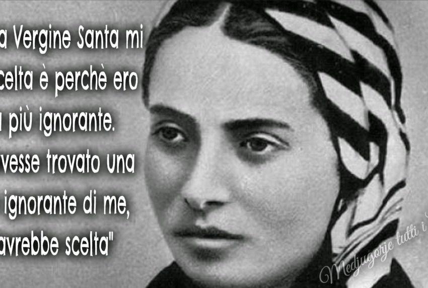 santa Bernardette e il santo rosario