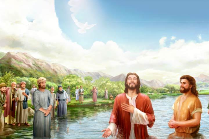 Gesù si lascia battezzare come un comune mortale, per dimostrare che Dio non fa preferenze di persone.