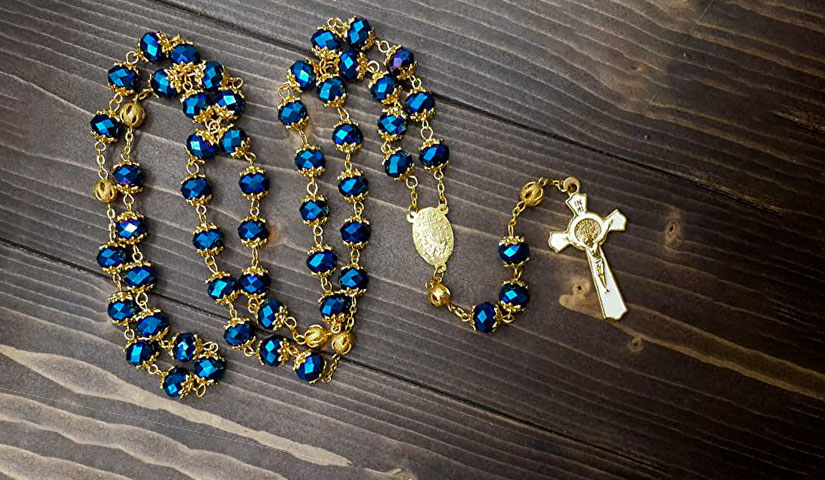 corona-del-rosario-blu-elettrico