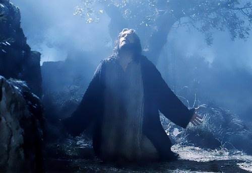 Padre Pio come Gesù nell'orto del Getsemani