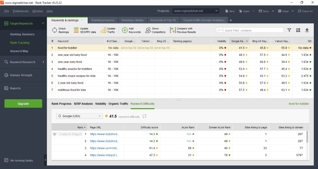 Rank-Tracker-Keyword-Difficulty-Feature How To Do Keyword Research Fast? SEO