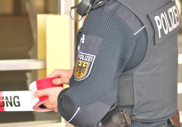 Absperrung Bundespolizei