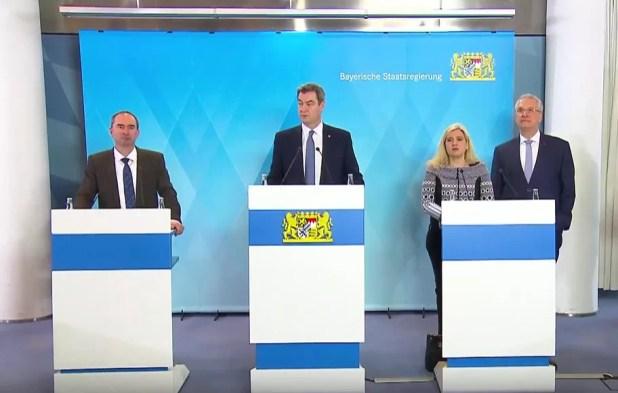 Bayerische Staatsregierung Pressekonferenz Coronakrise 16.3.2020