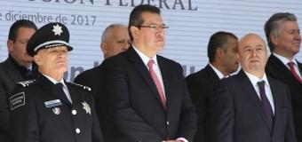 ENCABEZAN MARCO MENA Y RENATO SALES NOVENO  ANIVERSARIO DEL SERVICIO DE PROTECCIÓN FEDERAL