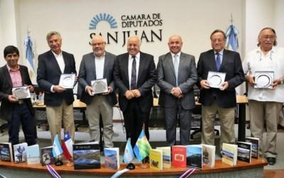 Diputados de San Juan homenajearon a consejeros regionales de Coquimbo