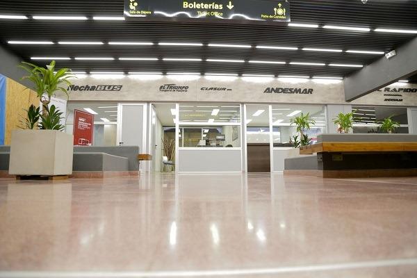 Inauguraron nuevas obras en la Terminal de Ómnibus