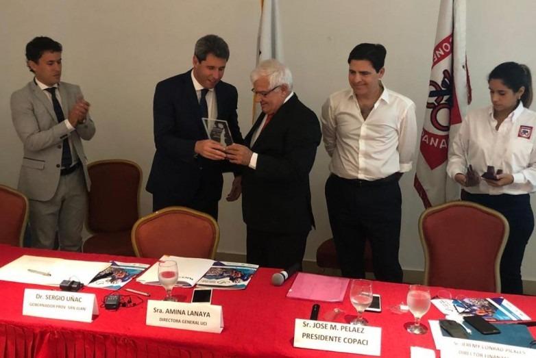 Propusieron a Uñac como presidente honorario de la Unión Sudamericana de Ciclismo