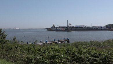 Photo of Hotelboot voor werknemers Afsluitdijk goed gevuld tijdens bouwvak (video)