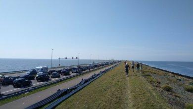 Photo of Afsluitdijk richting provincie afgesloten geweest door ongeluk