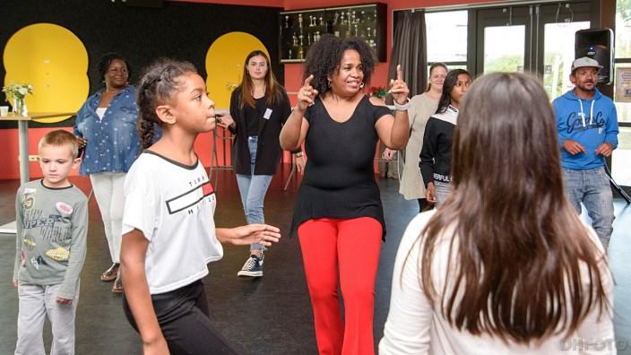 Workshop Salsa dansen onder leiding van Amanda Torres (DHfoto)