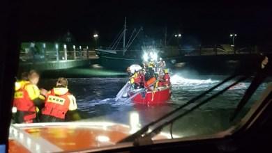 Photo of Nachtelijke alarmering voor zeiljacht op een onstuimige Waddenzee