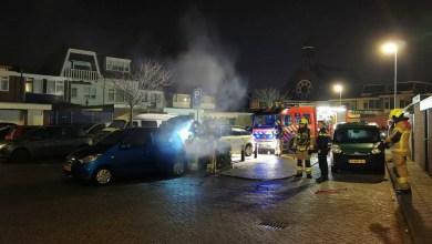 Photo of Autobrand, vermoedelijk voor vuurwerk