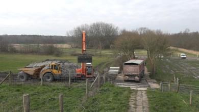 Photo of Aanleg herdenkingspunt Wieringermeer in volle gang