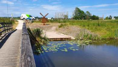 Photo of Cortenstalen strijkmolen langs Molenkolk in Kolhorn