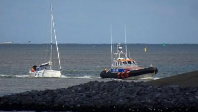 Photo of Helderse KNRM in actie op Waddenzee