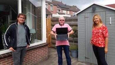 Photo of Laptop van ICT vanaf Morgen naar IJsclub Voorwaarts