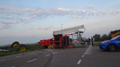 Photo of Tractor door noodstop te water (update)