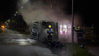 Photo of Bus volledig uitgebrand in Wieringerwerf
