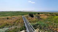 Zicht vanaf de toren langs de kustlijn richting Oosterland