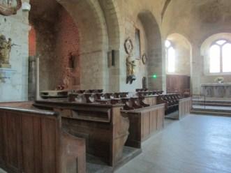 les stalles de l'église