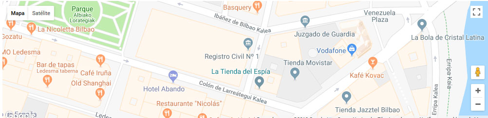 mapa registro civil bilbao