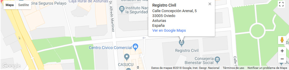 mapa registro civil oviedo