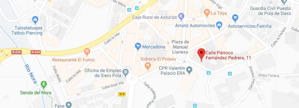 registro civil pola de siero asturias-mapa
