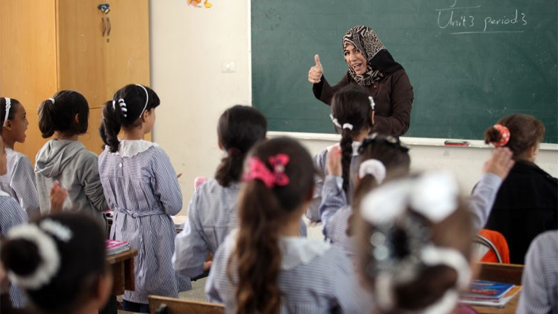 Palestinian refugees are educating.