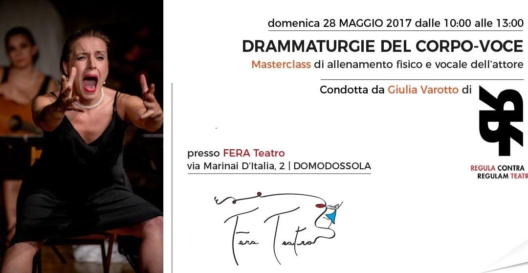 DRAMMATURGIE DEL CORPO-VOCE – 28 MAGGIO DOMODOSSOLA