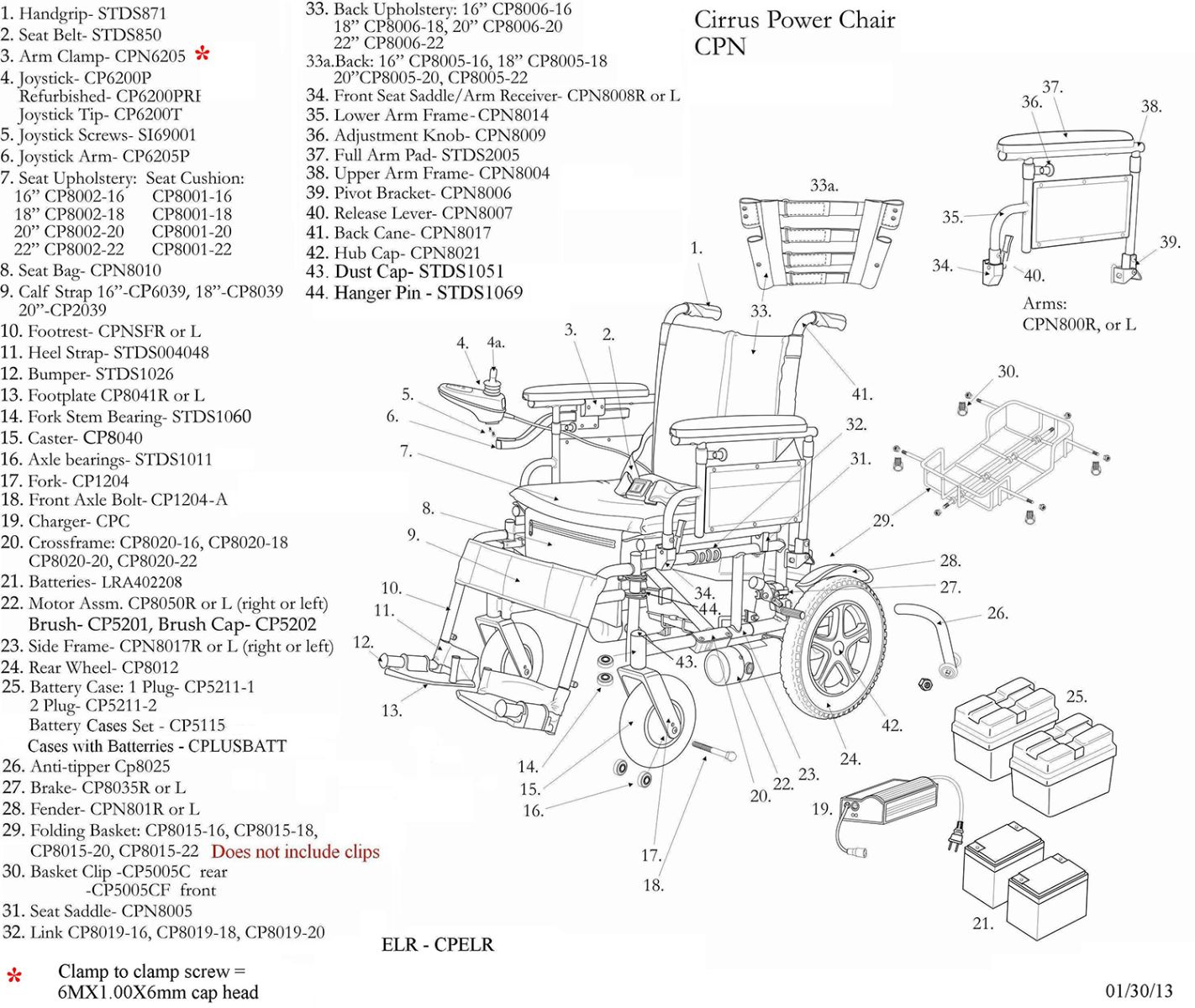 Replacement Parts For Cirrus Plus Ec Power Chairs