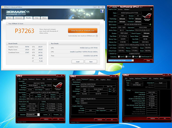 ASUS GeForce GTX Titan fissa quattro 3DMark World Records