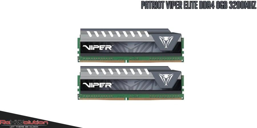 Patriot Viper Elite DDR4 8GB 3200MHz Dual Channel | Recensione