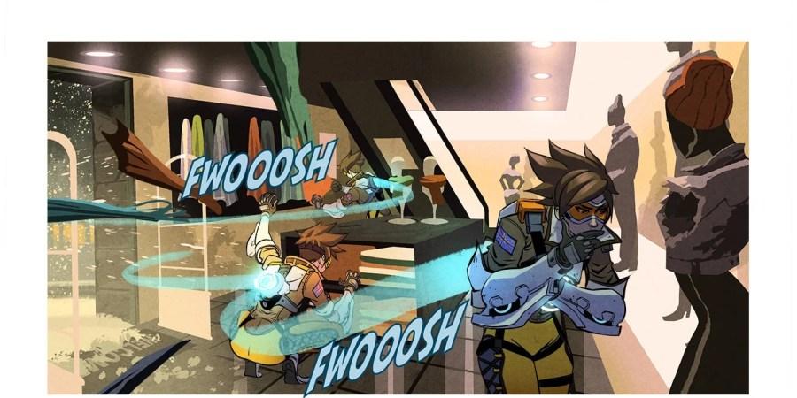 Ecco a voi il nuovo fumetto di overwatch dedicato a tracer for Sedia fortnite