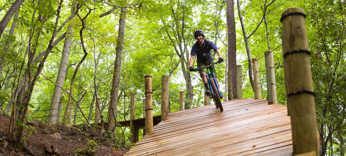 Mountain biker at Fire Mountain