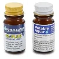 Dua botol tablet penetral air