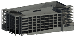 Structural Concrete Garage 3D Model