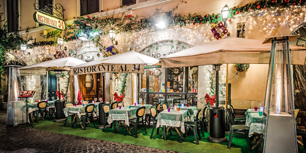 Image result for eating at a Roman trattoria